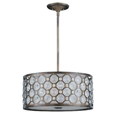 Cartier 3 Light Drum Foyer Pendant
