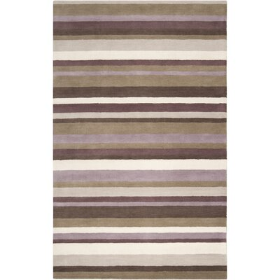 Madison Square Dark Brown Multi Rug