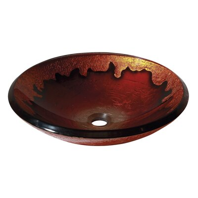 Avanity Vessel Sink in Gold Lava