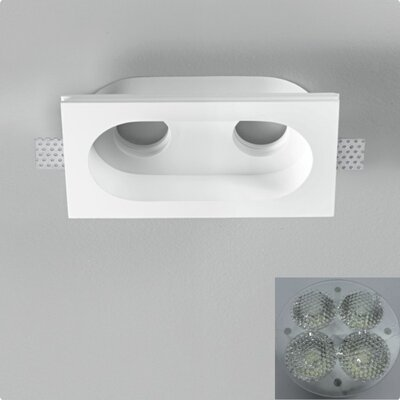 Zaneen Lighting Invisibli 2 Light Recessed Fixed LED SpotLight