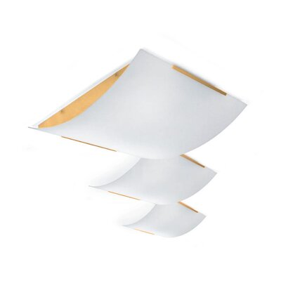 "Zaneen Lighting Tecla 13"" Ceiling Semi Flush Mount"