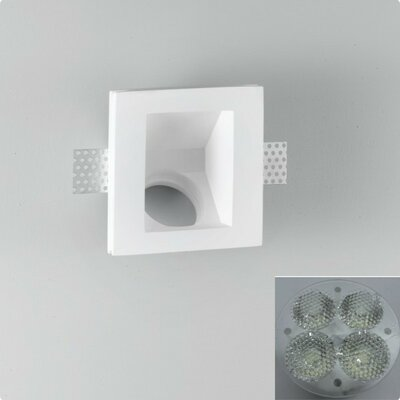 Zaneen Lighting Invisibli 1 Light Recessed Step Wall Light