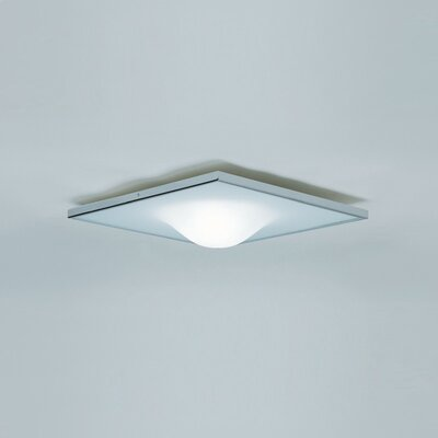 Zaneen Lighting Dickey 1 Light Square Flush Mount