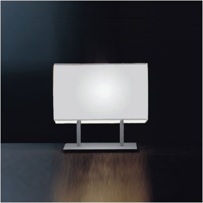 "Zaneen Lighting Blissy 17"" Table Lamp in Grey Metal Finish with White Shade"