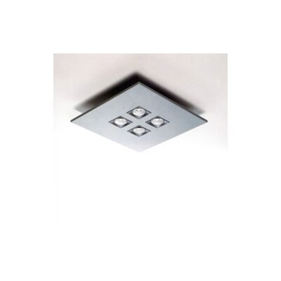 Zaneen Lighting Polifemo Four Light Square Flush Ceiling Mount