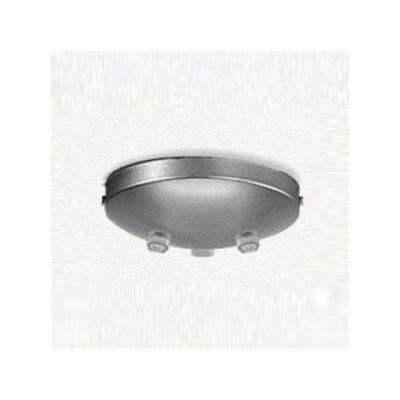Zaneen Lighting Triple Pendant Accessory Canopy in Metallic Gray