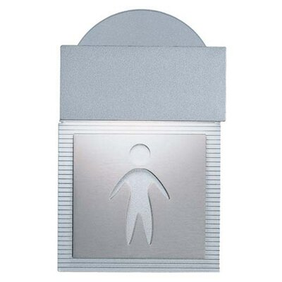 Zaneen Lighting Mini Signal Men's Room Wall Light in Metallic Gray