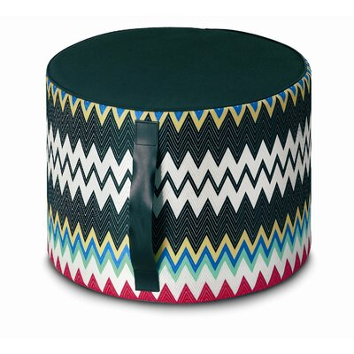 Missoni Home Marki Cylindrical Pouf Ottoman