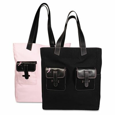 Day-Timer® Pink Ribbon Canvas Tote