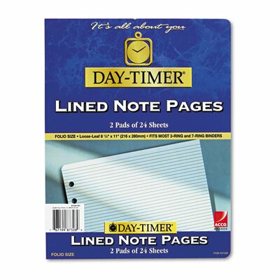 Day-Timer® Lined Note Pad For Organizer