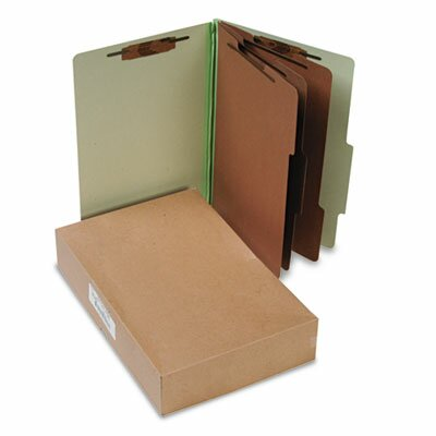Acco Brands, Inc. Pressboard Classification Folders, Legal, 8-Section, 10/Box