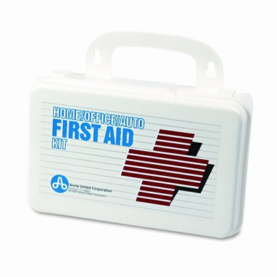 Acme United Corporation First Aid Kit for 5 People, 70 Pieces, Plastic Case