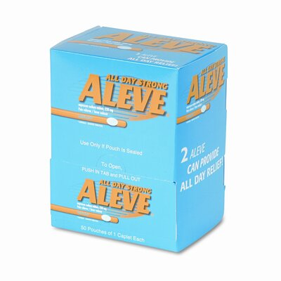 Acme United Corporation Aleve Tablet Pain Reliever Refill, 50 Packages per Box