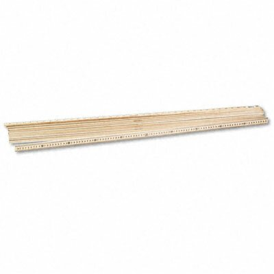 "Acme United Corporation One Meter (39-1/2"") Wood Stick Ruler, Clear Lacquer Finish, 12 per Box"
