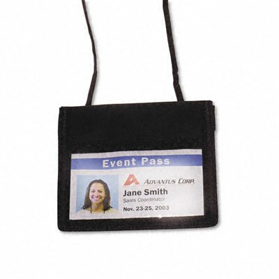 Advantus Corp. Id Badge Holder with Convention Neck Pouch, Horizontal, 4W X 2 1/4H, 12/Box