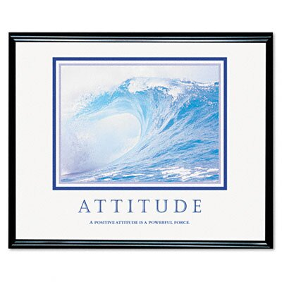 "Advantus Corp. ""Attitude/Waves"" Framed Motivational Print, 31-1/2w x 25-1/2h"
