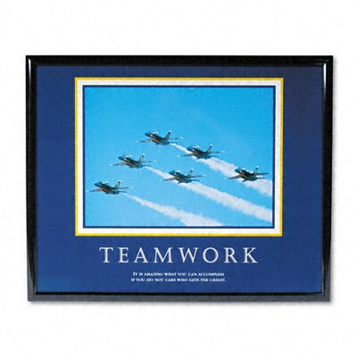 "Advantus Corp. ""Teamwork/Jets"" Framed Motivational Print, 31-1/2w x 25-1/2h"