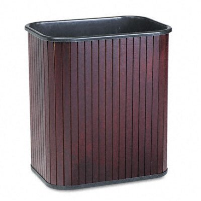 Advantus Corp. Rectangular Hardwood Wastebasket, 17 Qt
