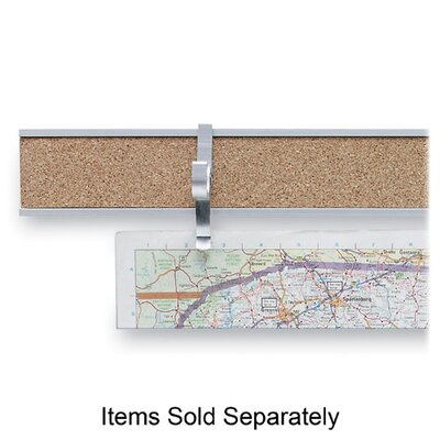 "Advantus Corp. Map Rail, 2""x8', Satin Aluminum"