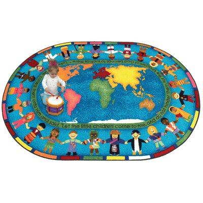 Joy Carpets Faith Based Let the Children Come Kids Rug
