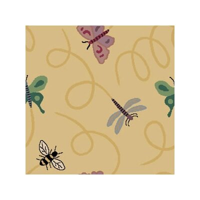 Joy Carpets Nature Gold Wing Dings Novelty Rug