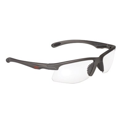 Aearo Technologies County Choppers™ OCC 700 Style Safety Glasses With Metalik Gun Metal Gray Silver Frame And Clear Anti-Fog Lens
