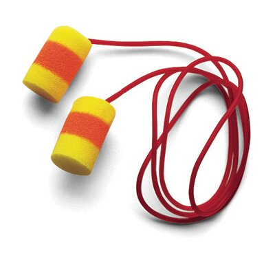 Aearo Technologies Use E-A-R® Classic® SuperFit 30™ Cylinder Shaped PVC And Foam Corded Earplugs (1 Pair Per Poly Bag, 200 Pair Per Box)
