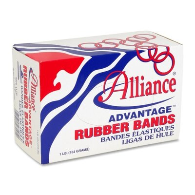 "Alliance Rubber Rubber Bands, Size 8, 1 lb., 7/8""x1/16"", Natural"