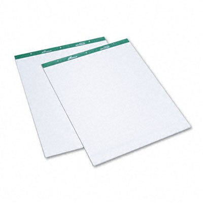 AMPAD Corporation Evidence Flip Chart Pads, Ruled, 27 x 34, White, Two 50-Sheet Pads/pack                                                      