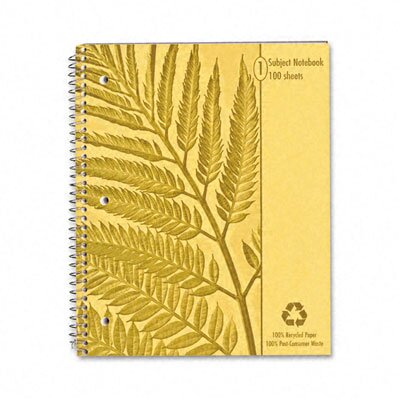 AMPAD Corporation Earthwise By Oxford Envirotec Subject Notebook, College/Med Rule, 8-7/8 X 11, We, 100 Sheets
