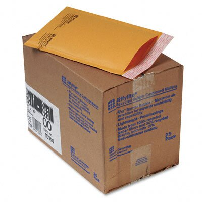 Sealed Air Corporation Jiffylite Self-Seal Mailer, Side Seam, #00, Golden Brown, 25/carton