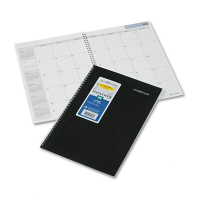 At-A-Glance Academic/Fiscal Ruled 14-Month Planner, 7-7/8 x 11-7/8, Black, 2012
