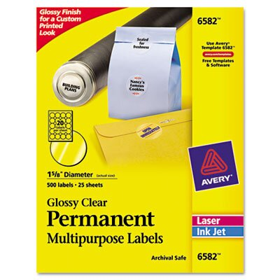 Avery Consumer Products Permanent I.D. Labels, 500/Pack