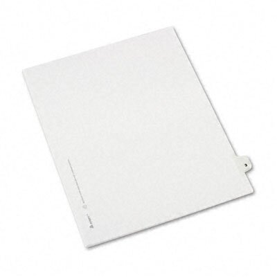 Avery Consumer Products Avery-Style Legal Side Tab Divider, Title: 3, Letter, White, 25 per Pack