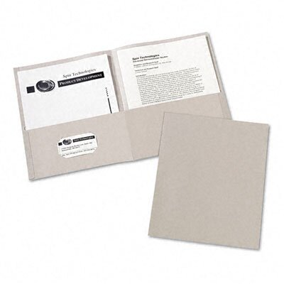 Avery Consumer Products Two-Pocket Embossed Paper Portfolio, 30-Sheet Capacity, Gray, 25 per Box                                                     