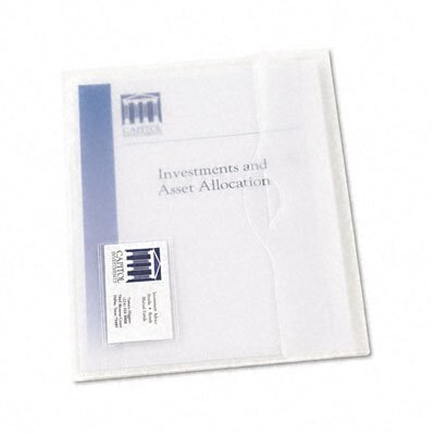 Avery Consumer Products Translucent Document Wallets, Letter, Poly, Clear, 12/Bx