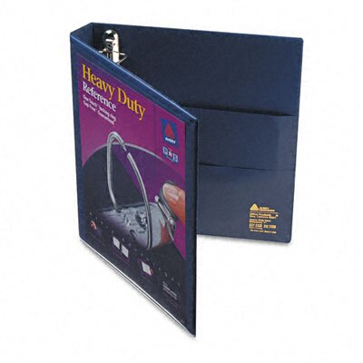Avery Consumer Products Nonstick Heavy-Duty EZD Reference View Binder, 1in Capacity, Navy Blue