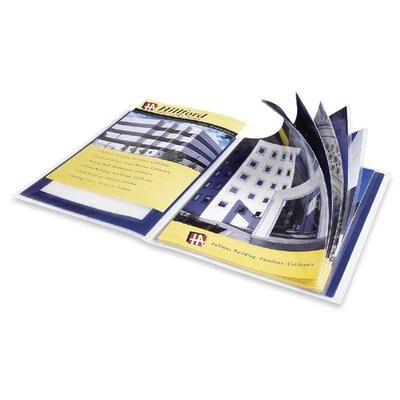 "Avery Consumer Products Presentation Books, 24 Pages, 9-1/2""x11-1/2"", Blue"