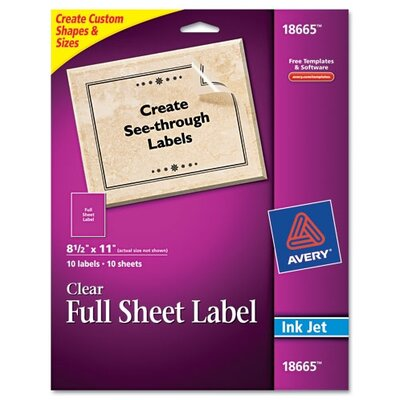 Avery Consumer Products Easy Peel Mailing Labels for Inkjet Printers, 10/Pack