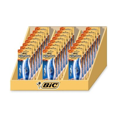 Bic Corporation Liner Correction Tape, 24 per Set, White