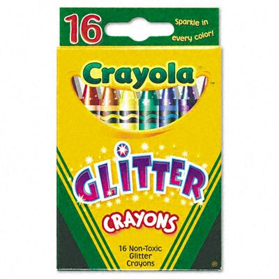 Crayola LLC Glitter Crayons (16 Colors/Set)