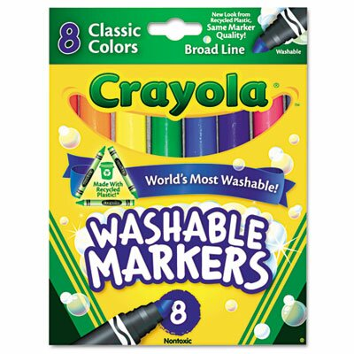 Crayola LLC Washable Broad Point Markers (8/Pack)