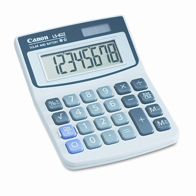 Canon LS-82Z Handheld Calculator, Eight-Digit LCD
