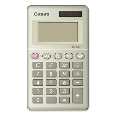Canon 8-Digit Handheld Calculator, Dual PoWhiter, 2-3/8&quot;x4&quot;x3/8&quot;, Black