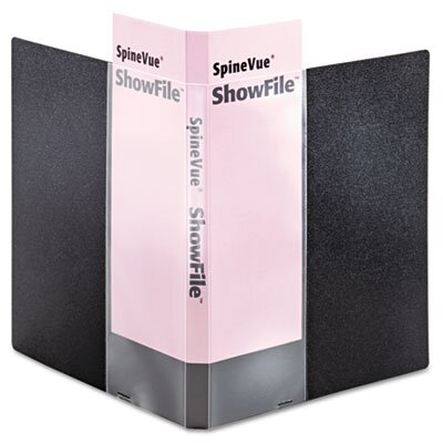 Cardinal Brands, Inc Spinevue Showfile Display Book with Wrap Pocket, 12 Letter-Size Sleeves