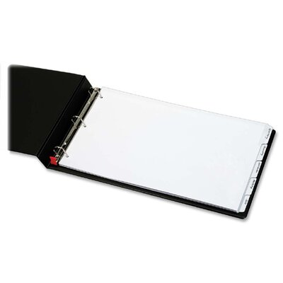 "Cardinal Brands, Inc Write n Erase Tab Dividers, 5-Tab, 11""x17"", White"