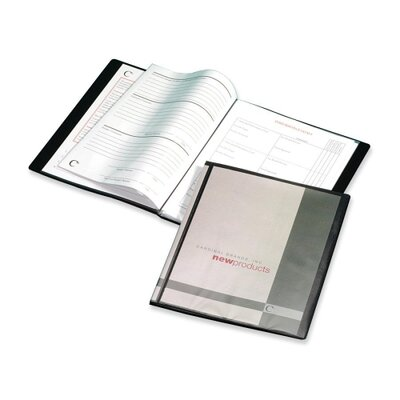 Cardinal Brands, Inc Presentation Book, 12 Pockets, 11&quot;x8-1/2&quot;, Black