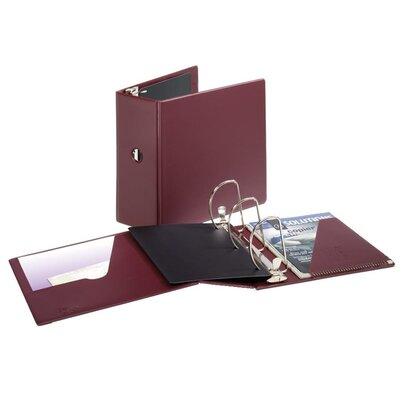 Cardinal Brands, Inc Heavyweight Vinyl Slant-D Ring Binder w/Finger Hole, 5in Cap, Maroon