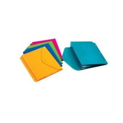 Cardinal Brands, Inc Expanding Binder File, 3-Hole Punched, Assorted Colors