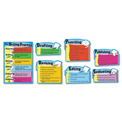 Carson-Dellosa Publishing The Writing Process Bulletin Board Set, The Writing Process